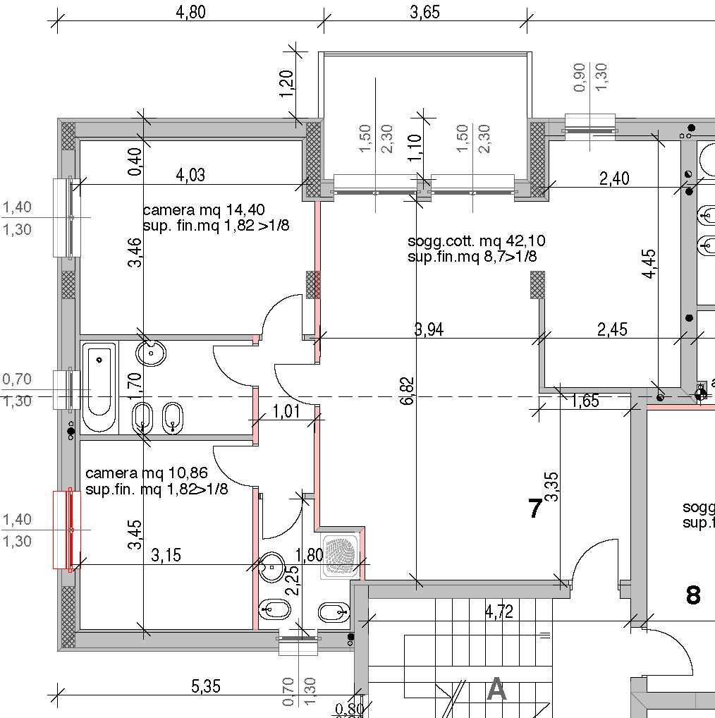Pianta di un appartamento for Planimetria appartamento